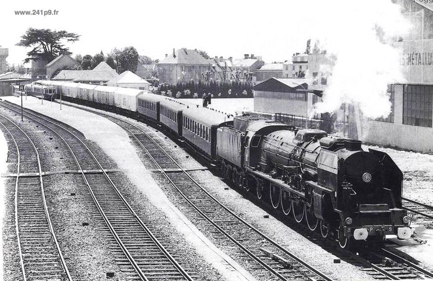 histo 241P9 1973 06 06 Alencon Historique 3   Le dernier train : le spécial COPEF de 1973