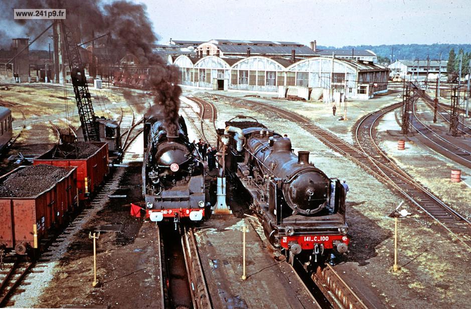 histo 241P9 1973 06 17 Copef avec 141 C 100 2 coll Rouannet Historique 3   Le dernier train : le spécial COPEF de 1973