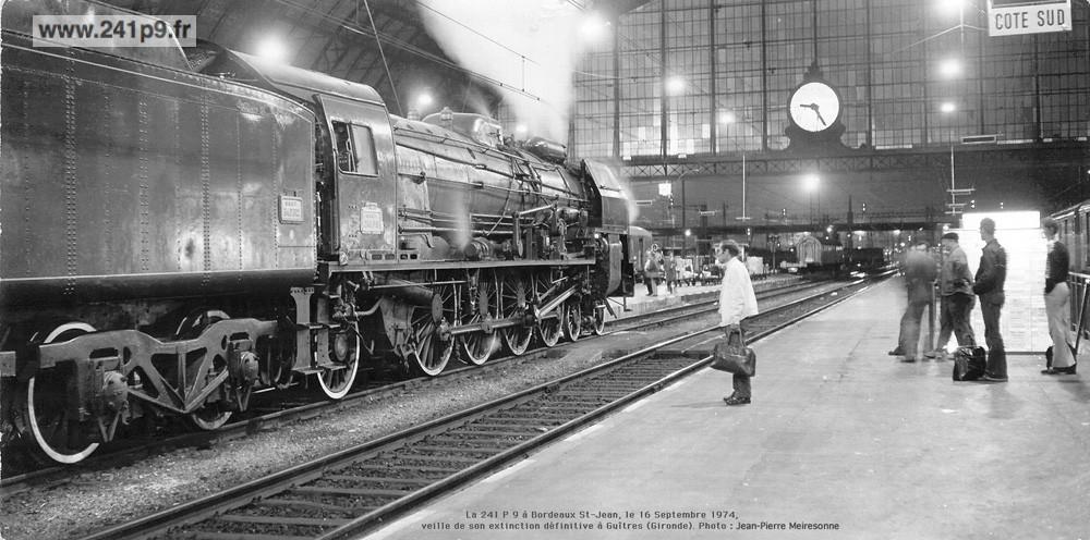 241P9 1974 09 16 4 Bordeaux J. P. Meiresonne MQ Historique 4   Transfert du Mans à Guîtres