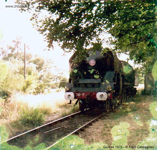 241P9 1975 Guitres voie 3 brut Historique 4   Transfert du Mans à Guîtres