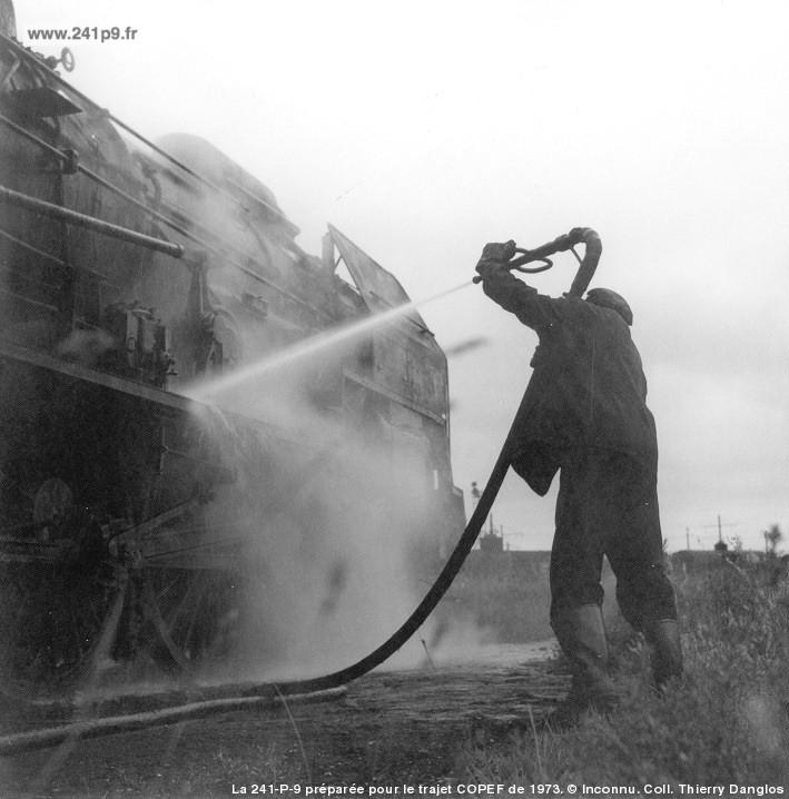 histo 241P9 1973 06 17 Copef prepa 1 coll Th.Danglos Historique 3   Le dernier train : le spécial COPEF de 1973