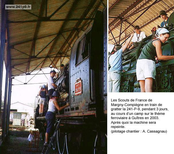 histo scout de France de Margny 2003 montage Historique 5   Un long sommeil à Guîtres